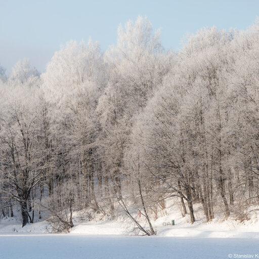 Бодрое и морозное утро в Нижнем Новгороде