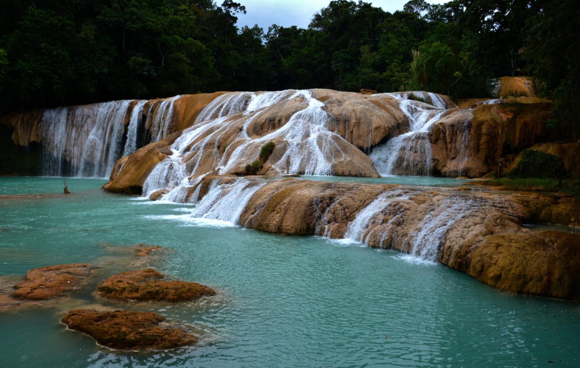 Мексика. Это нетолько майя. Каскад синей воды.