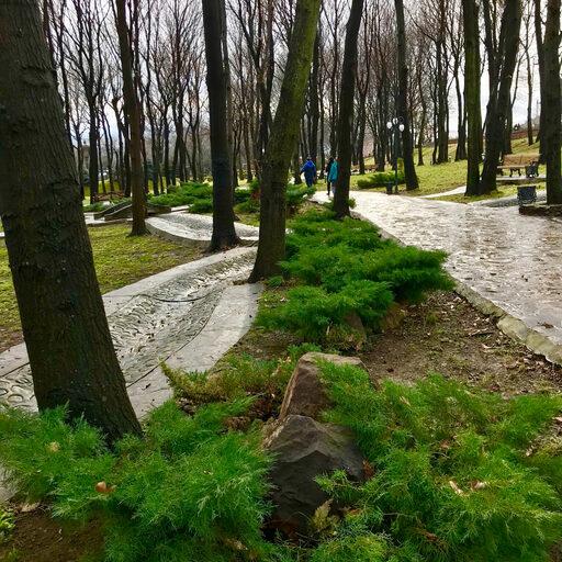 Парк в азербайджанской глубинке